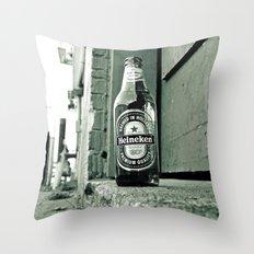 Forgotten Heineken Throw Pillow