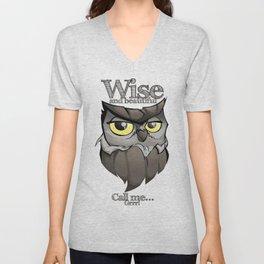 OWL! Wise and beautiful Unisex V-Neck