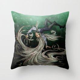 Creeping Up Throw Pillow