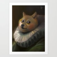 doge Art Prints featuring Sir Doge by Artspell