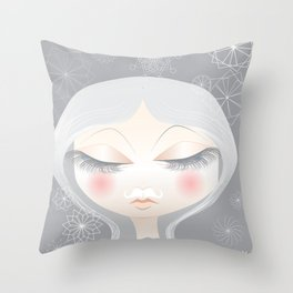 A Moustache From the SnowFall Throw Pillow