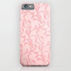Pretty princess- Pink elegant Damask pattern Slim Case iPhone 6s