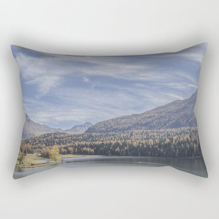 Switzerland Series: Awe-mazing view Rectangular Pillow