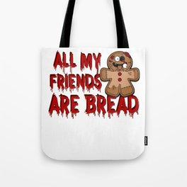 Gingerbread Zombies Halloween Gingerbread Man Pun Light Tote Bag