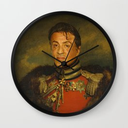 Sylvester Stallone - replaceface Wall Clock