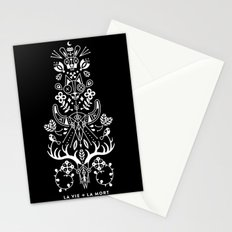 La Vie + La Mort: White Ink Stationery Cards