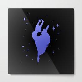 Ballerina Dance Dancer Silhouette Metal Print