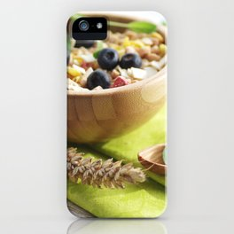 Healthy through the day with cereal iPhone Case