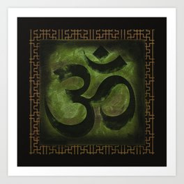 OM Tibetan Green Art Print