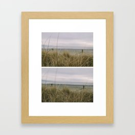 The Winter Beach Framed Art Print