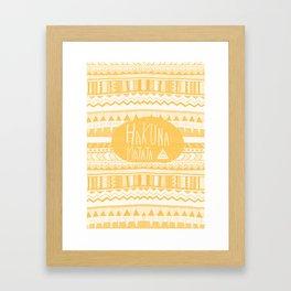 Hakuna Matata Yellow Framed Art Print