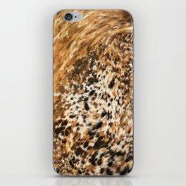 Rustic Country Western Texas Longhorn Cowhide Rodeo Animal Print iPhone Skin