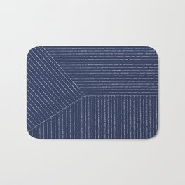 Lines / Navy Bath Mat
