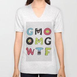 OMG GMO WTF - GMOnsters Anti Monsanto Art Print Unisex V-Neck