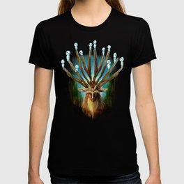 Princess Mononoke The Deer God Shishigami Tra Digital Painting. T-shirt