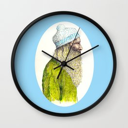 Beardy Man Wall Clock