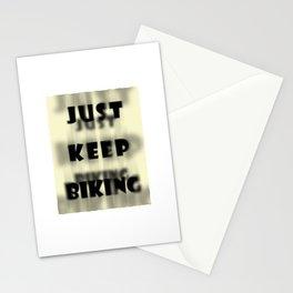 Just Keep Biking Stationery Cards