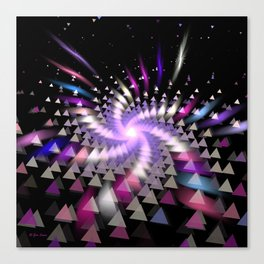 Triangulated Position Canvas Print