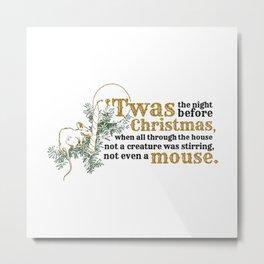Christmas Mouse Metal Print