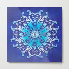 Baroque style texture on grunge background Metal Print