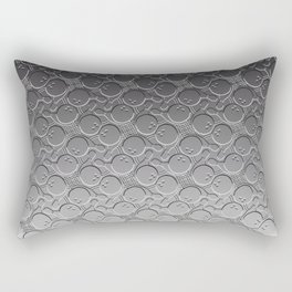 Bowling Ball and Pin Pattern in Silver Tone Rectangular Pillow