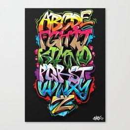 Graffiti Alphabet Canvas Print