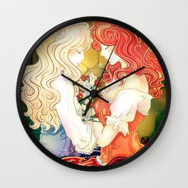 Snow White & Rose Red Wall Clock