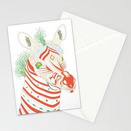 Robot Zebra Stationery Cards