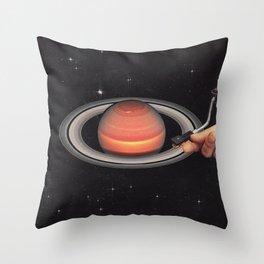 Galactic DJ Throw Pillow
