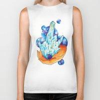 crystals Biker Tanks featuring Crystals by missfortunetattoo