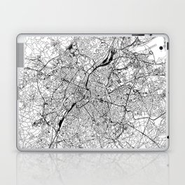 Brussels White Map Laptop & iPad Skin