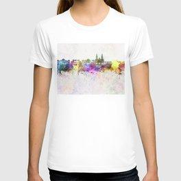 Santiago de Chile V2 skyline in watercolor background T-shirt