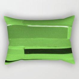 Green Monochromatic Rectangular Pillow