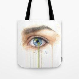Crying Earth Eye Tote Bag