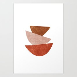 Abstract Bowls 1 - Terracotta Abstract - Modern, Minimal, Contemporary Print - Brown, Beige Art Print