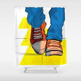 Follow the yellow brick road Shower Curtain