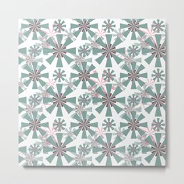 Abstract floral, geometric pattern. Metal Print