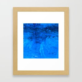 In liquid Indigo Framed Art Print