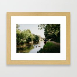 Ducks on the Canal Framed Art Print