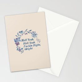 Floral Rap #1 Stationery Cards
