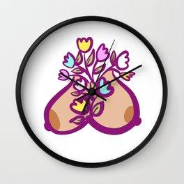 Floral Bosom Wall Clock