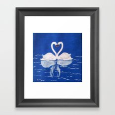 Beautiful Love Swans Framed Art Print