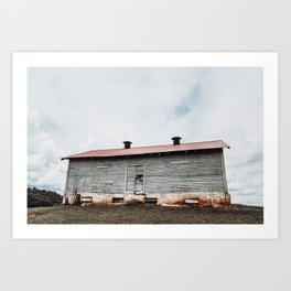 Red Roof Barn Art Print