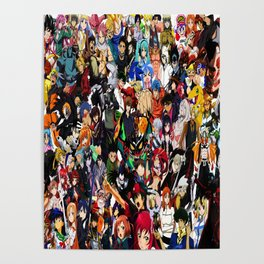 all anime cool Poster