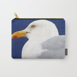 Seagull on nautical blue Carry-All Pouch