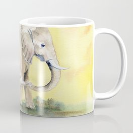 Colorful Mom and Baby Elephant 2 Coffee Mug