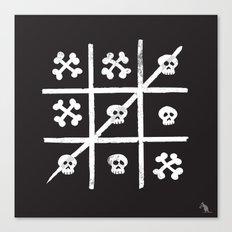 Skull + Bones Canvas Print