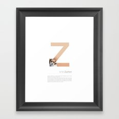 Z is for Zuchon Framed Art Print