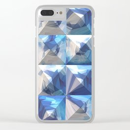 Blue Hue Clear iPhone Case