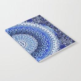 Cobalt Tapestry Mandala Notebook